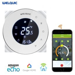 Welquic WiFI Smart Digital Thermostat Touch Screen Room Heating Programmable Thermostat Room Temperature Controller1 on Sale