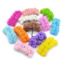 $enCountryForm.capitalKeyWord Australia - 12 36 72 144pcs Mini Foam Rose Artificial Silk Flowers For Wedding Car Decoration Diy Wreath Bridal Bouquet Fake Rose Flower75z