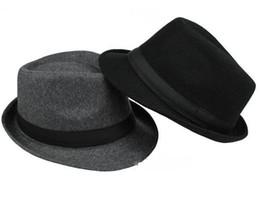 dropshipping Marca Nueva Moda Hombres puros Mujeres Grandes Brim Caps  sombreros Floppy Jazz hat Vintage Popular de lana gorras D19011102 7bad123b779