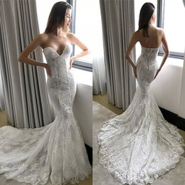 Discount lace couture backless wedding dresses - Pallas Couture Lace Mermaid Wedding Dresses Plus Size Backless Bridal Gowns Sweep Train robe de mariée Wedding Dress 286
