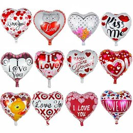 valentines table decorations Australia - 50pcs 18inch Wedding Decoration Colourful Heart Shape Globos Metallic Infatable Foil Balloons For Valentine Day Party Balloons Y19061502
