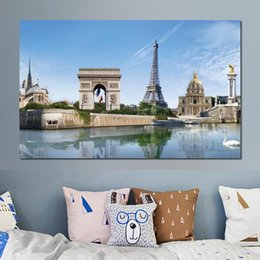 River Bridge Painting Australia - canvas print painting bridge swan river creativity eiffel tower modern home decor