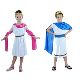 boy king crown Australia - Cute Girls Boy Greece Eypt Cosplay Elegant King Crown Costume Clothing Carnival Fancy Dress Party halloween costume for kids