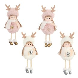 Toy covers online shopping - Lovely Angel Girls Plush Toy Children Gift Doll Hanging Dolls Pendant Fit Indoor Christmas Tree Decoration Styles yw E1