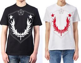 Wholesale t shirt customization online – design Exclusive Customization Men Women Geometric Pattern Star Print Cotton Short Sleeve T Shirt Student Loose Sports T Shirt Top