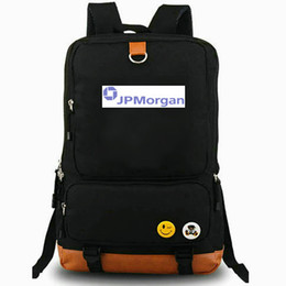 leisure outdoor sports canvas bag UK - JP Morgan backpack JPMorgan Chase daypack Classic bank logo best laptop schoolbag Leisure rucksack Sport school bag Outdoor day pack