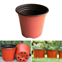 seed coating NZ - 1PCS Plant Flower Pots Plastic Starting Two-Tone Universal Soft Flowers Nursery Seeds Storage Pots Container Garden Decoration Garden Plante