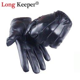 $enCountryForm.capitalKeyWord Australia - Long Keeper Guantes Tactil Glove Women Touched Screen Gloves Men Leather gloves Autumn Winter Full Finger Unisex luvas G243