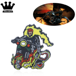 $enCountryForm.capitalKeyWord UK - Marvel Ghost Rider Pin Brooch Thor The Hulk Superhero Denim Shirt Brooch Men Women Fan Jewelry