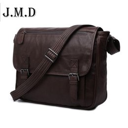 Messenger Bags For Men Leather UK - Pop Tide Vintage Casual Genuine Leather Men Messenger Bag Shoulder Bags For Men Crossbody Business Package 7022c Freeshipping