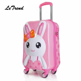1d4600e29422 Children Rolling Luggage Spinner Travel Duffle Kids Suitcase Wheels Cute  Cartoon Trolley 3D Cabin School Bag Trunk