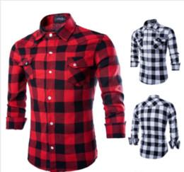 Red Plaid Mens Dress Shirt Australia - FASHION HOT NEW 2019 Mens Casual Shirts Slim Fit Dress Plaid Check Shirt Fashion Comfortable and Breathable Shirts GOOD Red Black
