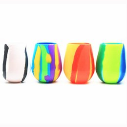 Glass Flutes Australia - 2019 new camouflage silicone wine glass Hot tumbler portable beer mug Collapsible silicone cup Free shipping