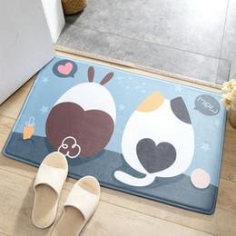 $enCountryForm.capitalKeyWord NZ - Flannel Printing Thickening Slow Rebound Foot Pad Bathroom Carpet Cute Cartoon Mat Door Toilet Absorbent Non-slip Ultra Soft Rug