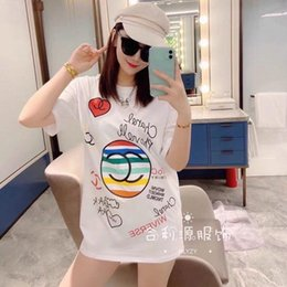 Wholesale cotton net t shirts online – design 2020 new design early spring new net red printing short sleeve loose version of women s T shirt fashion loose