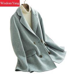 $enCountryForm.capitalKeyWord Australia - Blue Sheep Wool Alpaca Womens Coats Suit Winter Warm Elegant Female Overcoat Woolen Slim Office Ladies Suits Coat Outerwear