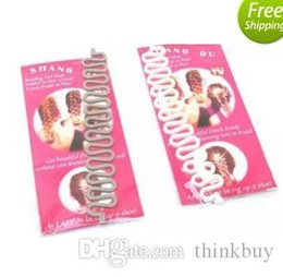 $enCountryForm.capitalKeyWord Australia - New Fashion Style French Braid Twist Magic Hair Styling Braiding Tool Roller Bun Maker Hook Black White Gray