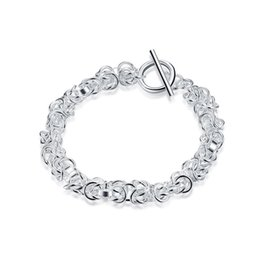 Unisex Simple Bracelet Chain Australia - Link Chain Bracelets Faucet Bangles S925 Silver Plated Simple Elegant Bracelet Accessories For Unisex Valentine's Day Jewelry Gift POTALA033
