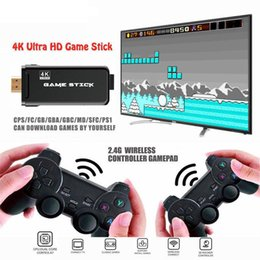 Wholesale 4K Ultra HD U8 Game Console Stick HDMI Output PS1 Emulators Double 2.4G Wireless Gamepad Controller TV Video Game Dongle 32g TF card 3500