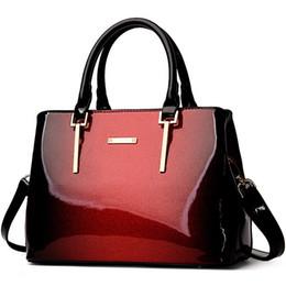 Ladies Red Handbag Australia - 2018 New Fashion Luxury Handbags Women Bags Designer High Quality Women Leather Handbags Panelled Patent Leather Ladies Tote Sac