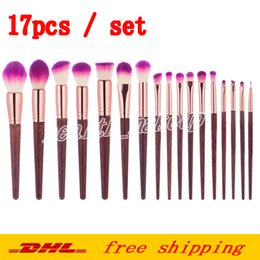 $enCountryForm.capitalKeyWord Australia - Factory Direct Make Up Brushes 17 Pcs Natural Wood Handle Makeup Brushes Kit High Quality Beauty Cosmetic Tool Collection DHL Free Shipping