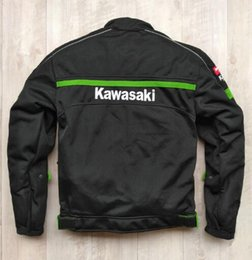 Green Gear Australia - Wholesale Motocross jacket for KAWASAKI Team Green Professional Motorcycle Racing Jackets with protective gear KQ