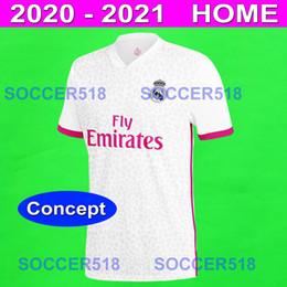 Pink black soccer shirt online shopping - REAL MADRID CONCEPT HOME soccer jerseys HAZARD SERGIO RAMOS BENZEMA white pink football shirts JOVIC RODRYGO camiseta de futbol