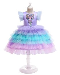 $enCountryForm.capitalKeyWord UK - Puff sleeve baby girls ball gown suprise girl doll Embroideried children cake layer tired tutu skirts kids halloween christmas party dresses