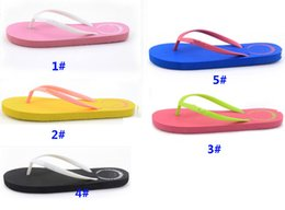 bathroom slippers 2019 - Summer Love Pink Flip Flops Candy Colors Beach Pools Slippers Shoes For Women Casual PVC Home Bathroom Sandals SHH7-1054