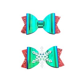 Symbol Of The Brand Handmade 4 Inch Hair Clip Bow Blue Red Green Stripes Girls' Accessories