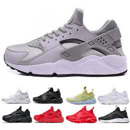 Pink black huarache shoes online shopping - 2019 Cheap Huarache Ultra Run shoes triple White Black Red men women Running Shoes yellow grey Huaraches sport Shoe Mens Womens Sneakers