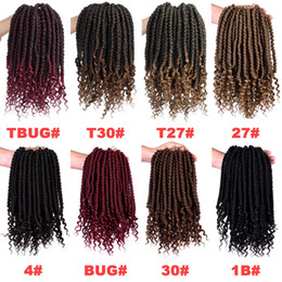 "$enCountryForm.capitalKeyWord Australia - 12"" Senegalese Spring Twists Up Wavy Crochet Braiding Hair Passion Fluffy Synthetic Hair Extensions Braids Curly Bomb Twist 65g pack"
