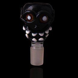 bongs stems Australia - Devil Face Design 18.8mm Size Glass stem Joint Glass Pipes For Water Pipes Glass Bongs Free Shipping With Factory Sale directly