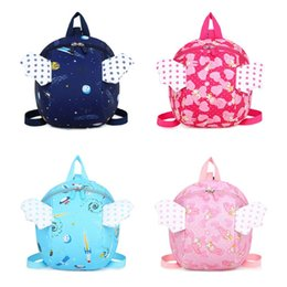 Discount wings for babies - Safety Harness Backpack Kids Anti-lost Cartoon Angel Wings School Bag for Infant Baby Toddler