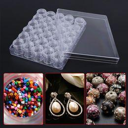 Beads Storage Boxes Australia - 30 Grids Plastic Makeup Organizer Storage Box Jewelry Small Beads Rhinestones Diamond Painting Accessories Storage Case Gift Box