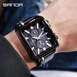 $enCountryForm.capitalKeyWord Australia - Black Leather Strap Luxury Men's Watches Business Fashion Relojes Mujer Quartz Casual Style Wholesale Sanda Brand NEW Hot Selling Wristwatch