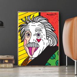 $enCountryForm.capitalKeyWord Australia - Romero Old Grandfather Albert Einstein Poster Canvas Prints Picture Modular Paintings For Kid Living Room Poster Anime Home Decor