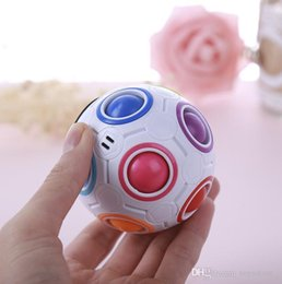 rainbow puzzle NZ - Rainbow ball toy Cube Speed Football Fun Creative Spherical Puzzles Kids Educational Learning Toy game for Children Adult Gifts