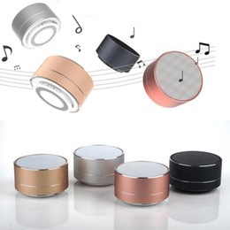 metal radios Australia - A10 wireless bluetooth speaker metal mini portable subwoof sound with Mic TF card FM radio AUX MP3 music play loudspeaker