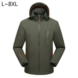 Casual Motorcycle Jackets Australia - 6XL 7XL 8XL Autumn spring motorcycle jackets men brand windbreaker mountain jackets waterproof windproof sportswear male CF015