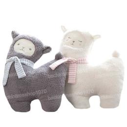 $enCountryForm.capitalKeyWord Australia - Grey Alpaca Plush Toys Kawaii Alpacasso Stuffed Toys Japanese Plush Doll Toys Children gift 43cm Janpanese Animal White Sheep Plush Toy