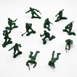 World War Models NZ - 12pcs set 5cm Plastic Soldier Model World War II Soldier military Toys Best birthday Christmas gifts for Boys Toys for Children