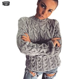 Fashion belts applique online shopping - Spring Knitted Sweater For Women Fashion O Neck Long Sleeve Loose Spandex Pullover Tops Pull Femme