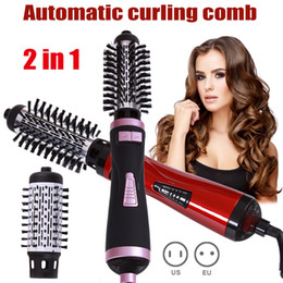 hot tools curling Australia - 2 in 1 Hot Air Brush Dryer Curling Rod Hair Styling Tools Automatic Rotating Curling Comb Women Curl Hair Styling Comb