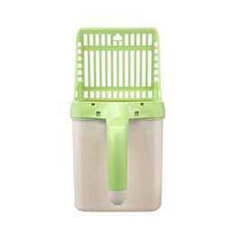 pets shovel Australia - Useful Cat Litter Shovel Pet Cat Litter Sifter Hollow Neater Scooper Sand Cleaning Scoop with Waste Bags