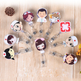 Wholesale 21 Style Nurse Retractable Badge Reel Pull ID Card Badge Holder Belt Clip for Hospital School Office