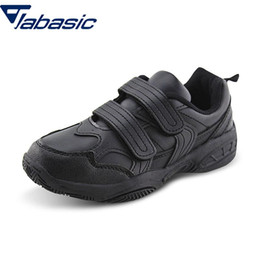 boys shoes Canada - JABASIC New School Uniform Sneaker Black White Pu Leather Shoes Kids Boys Dress Shoes School chaussure enfant Schoenen Kid