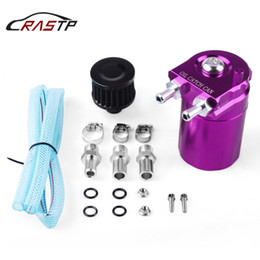 $enCountryForm.capitalKeyWord Australia - RASTP-Car Polished Oil Reservoir Catch Can Tank With 10mm 15mm Fittings and Oil Dipstick Breather Filter RS-OCC009