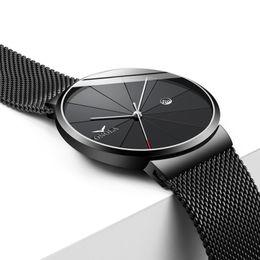 Trends waTch online shopping - Fashion Concise Mesh Belt Metal Men Wristwatch Cool Trend Quartz Youth Watch ONOLA Genuine New Model