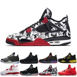 3bf7bd061bc1 4 Raptors Tattoo Hot Punch basketball shoes Travis Scott 4s Cactus Jack  Pure Money Pizzeria Black Cat Gum Men sneakers trainers sports shoes